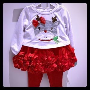 Nanette Baby 3-6M 2 piece Holiday Reindeer set
